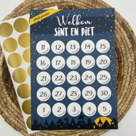 Aftelkalender 'Sinterklaas' per 3