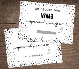 Kraskaarten 'Ceremoniemeester' per 5 stuks