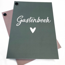 Gastenboek invulkaarten 25st. - oudroze
