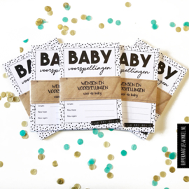 Baby invul kaartjes - zwart/wit per 50 sets