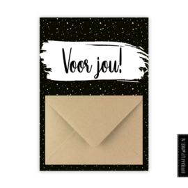 """Geldkaarten """"Voor jou"""" zwartwit - per 5 stuks"""