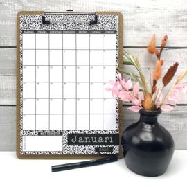 Kalender 2022 A4 klembord per 3 stuks