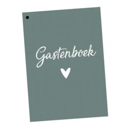 Gastenboek invulkaarten 50st. - groen