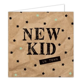 """Wenskaarten met envelop """"New kid"""" 5 stuks"""