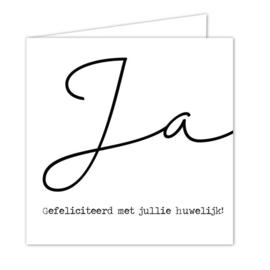 """Wenskaarten met witte envelop """"Huwelijk"""" 5 stuks"""