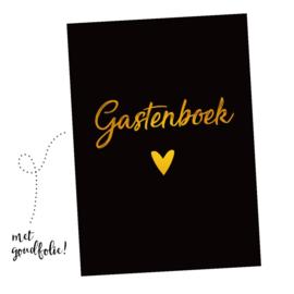 Gastenboek invulkaarten 25st. - zwart/goud