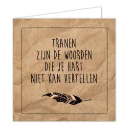 """Wenskaarten met envelop """"Tranen"""" 5 stuks"""