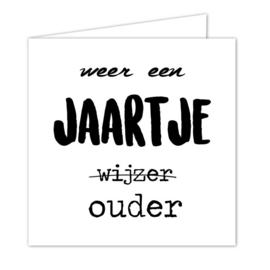 """Wenskaarten met envelop """"Jaartje ouder"""" 5 stuks"""