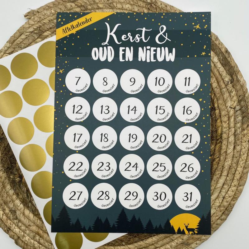 Aftelkalender 'Kerst' per 3