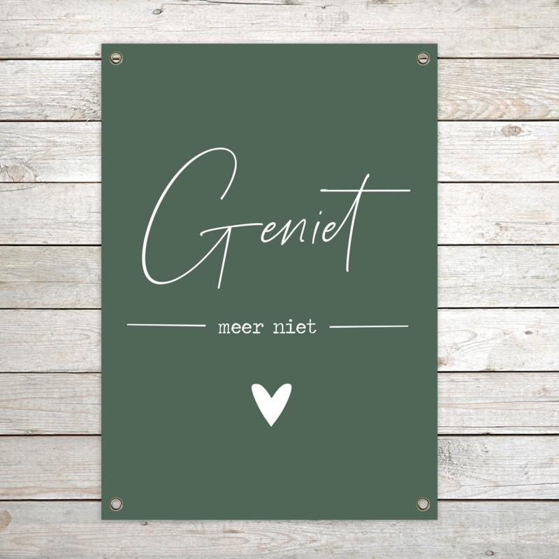 Tuinposter XL 'Geniet' Groen per 2 stuks