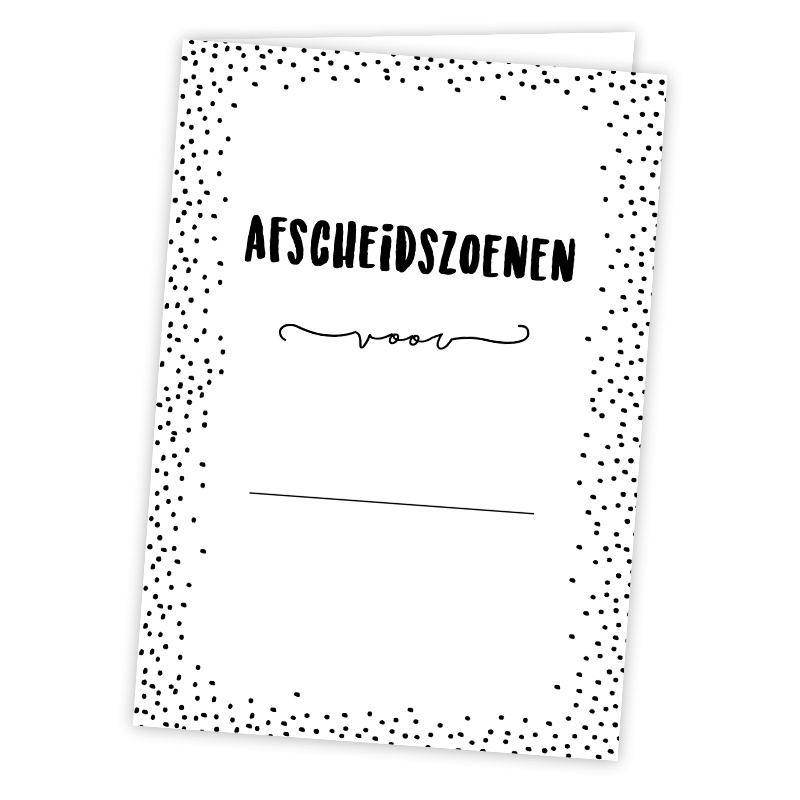 Afscheidszoenen kaart A5 - per 5 stuks