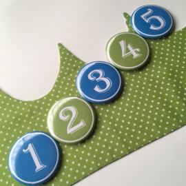 """Verjaardagskroon """"leaves blue green"""""""