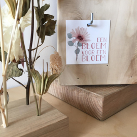 Label - Een bloem voor een bloem