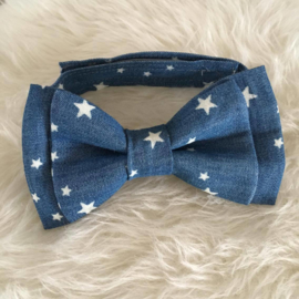 "Vlinderdasje ""jeans light stars"""