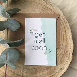 Wenskaart - Get well soon