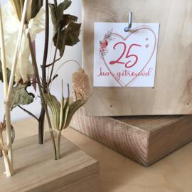 Label - 25 jaar getrouwd