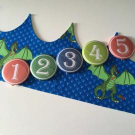 """Verjaardagskroon """"Dragons"""""""