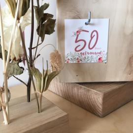Label - 50 jaar getrouwd