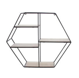 Presentatierekje zeshoek 4-traps