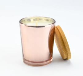Geurkaarsje - rose goud