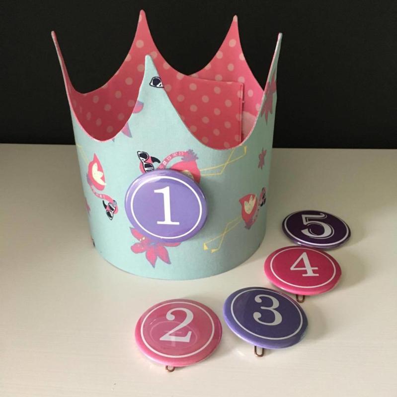 """Verjaardagskroon """"Flamingo's"""""""