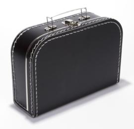Koffer - 'Gaat logeren - stip' (30cm.)