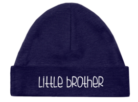 "Mutsje donkerblauw - ""Little brother"""