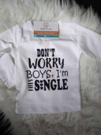 Longsleeve - 'Don't worry boys/girls' - Mt. 50-98