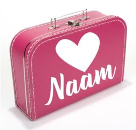 Koffer - 'Hart + naam'