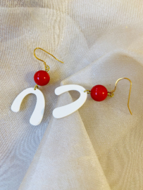 Funky retro earrings