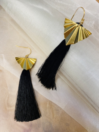 Golden brush earrings