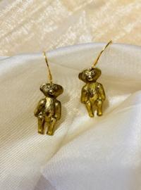 Old teddybear earrings