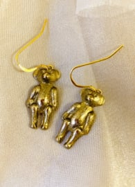 Old teddybear earrings