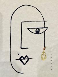 Golden drops earrings