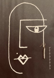 Small pearl drops earrings