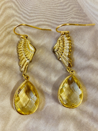 Wings of gold earrings