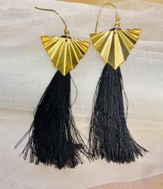 Golden brush earrings