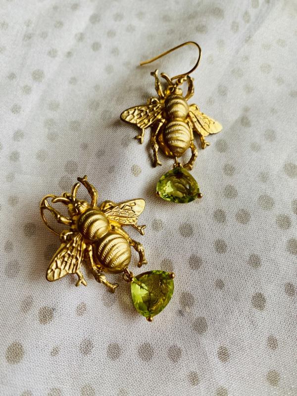 Wild bee earrings