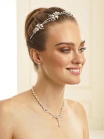 Sieraden set N34: Ketting en oorbellen (tiara niet inbegrepen)