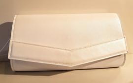 Smart: Lederen witte handtas. Handmade in Antwerp by Elke Reypens