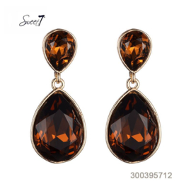 Amber colored earrings - mother of the bride