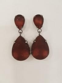 Beautiful matt burgundy earrings