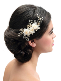 BB-441- beautiful hair piece with sof peach flowers