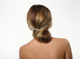 Loïs (1 piece): luxury handmade hairpin with silver-coloured strass and rhinestones