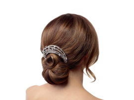 Lara: hair comb with rhinestone crystals, crystals and glass beads