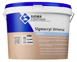 Sigma Sigmacryl Universal Matt - Wit - 2,5 liter