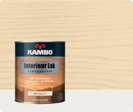 Rambo Interieur-/Vloer Lak Transparant Zijdeglans - White wash 777 - 0,75 liter