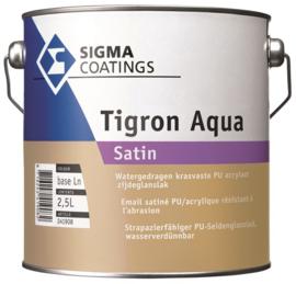 Sigma Tigron Aqua Satin - Wit - 1 liter - vergelijkbaar met s2u nova satin