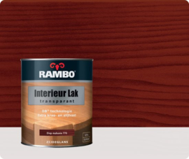 Rambo Interieur-/Vloer Lak Transparant Zijdeglans - Diep Mahonie 770 - 0,75 liter