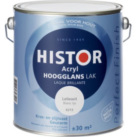 Histor Perfect Finish Acryl Hoogglans - Zonlicht Ral 9010 - 0,75 liter
